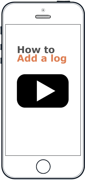 "An image of a smartphone showing the words ""Add a log"""
